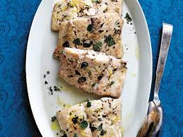 Baked Striper Fish Recipes, Herb and Lemon Roasted Striped Bass